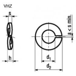 Rondelle Elastiche Spaccate per Carichi Elevati per Viti a Testa Cilindrica