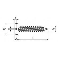 Viti Autofilettanti Testa Cilindrica Intaglio DIN 7971C