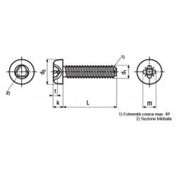 Viti Autoformanti Testa Cilindrica Impronta Croce DIN 7500Z