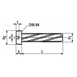 Viti Automaschianti Testa Cilindrica con Intaglio Forma B DIN 7513