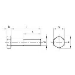 Viti Testa Esagonale Parzialmente Filettata Inox DIN 931 ISO 4014 UNI 5737