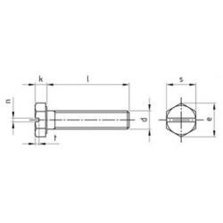 Viti Testa Esagonale ad Intaglio Interamente Filettata Inox DIN 933
