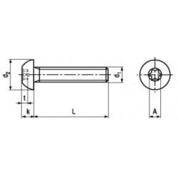 Microviti Testa a Bottone Torx ISO 7380-1