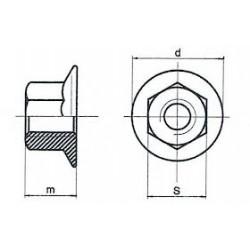 Dadi Esagonali Flangiati DIN 6923 ISO 4161 Zincatura / Brunitura Nera / Inox Nero