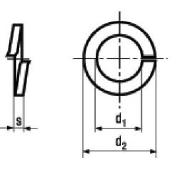 Rosette Elastiche Spaccate DIN 127A Zincatura / Brunitura Nera / Inox Nero