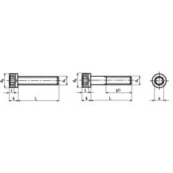 Viti Testa Cilindrica Esagono Incassato in Pollici UNF DIN 912 - UNI 5931