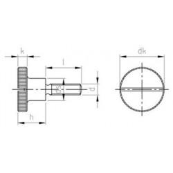 Viti a Testa Cilindrica Zigrinata ad Intaglio con Colletto Alto Inox DIN 465
