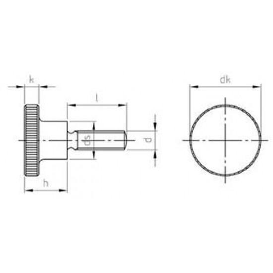 Viti a Testa Cilindrica Zigrinata con Colletto Alto Inox DIN 464