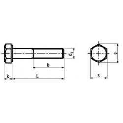Viti Testa Esagonale Parzialmente Filettate Zincate a Fuoco DIN 931 UNI 5737
