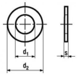Rondelle Piane Senza Smusso Zincate a Fuoco HV 200 DIN 125 UNI 6592