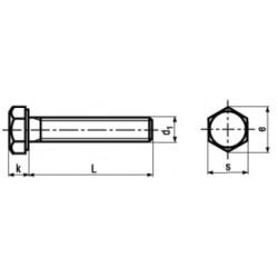 Viti Testa Esagonale Interamente Filettate Zincate a Caldo DIN 933 UNI 5739