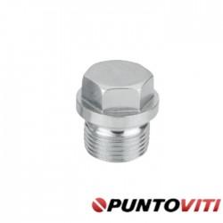 Tappi Testa Esagonale con Bordino Filettati Passo Fine DIN 910