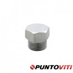 Tappi Testa Esagonale con Bordino Filettatura Gas