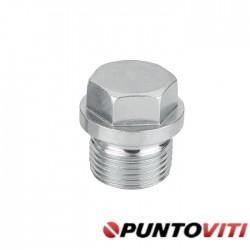 Tappi Testa Esagonale con Bordino Filettatura Gas DIN 910