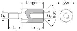 Distanziali Esagonali Inox A2 Filettati Internamente ed Esternamente Maschio-Femmina