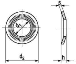 Rosette di Sicurezza Coniche Rip-Lock NFE 25-511 M