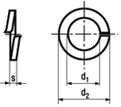 Rosette Elastiche Spaccate DIN 127 A