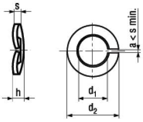 Rosette Elastiche Spaccate Bombate DIN 128A