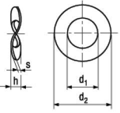 Rosette Elastiche Ondulate DIN 137B