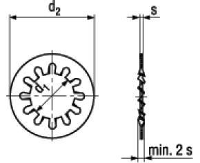 Rosette Elastiche Dentate Forma J Con Dentatura Interna DIN 6797J