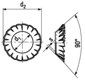 Rosette Elastiche Coniche Forma V con Dentatura Esterna Sovrapposta DIN 6798V