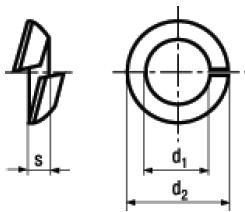 Rosette Elastiche Sferiche Spaccate per Fissaggio di Ruote DIN 74361C