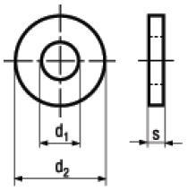 Rosette per Strutture in Acciaio DIN 7989-1