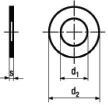 Rondelle di Spessoramento Acciaio St 2 K50 DIN 988