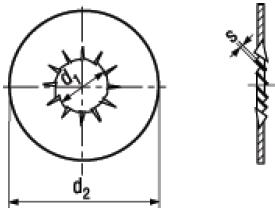 Rosette Dentellate a Fascia Larga con Dentatura Interna Sovrapposta NFE 25-5212