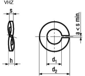 Rosette Elastiche Spaccate per Carichi Elevati per Viti a Testa Cilindrica