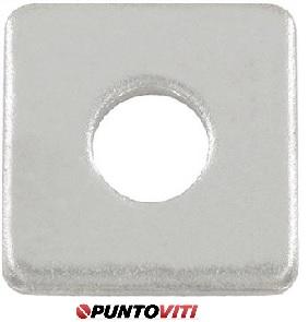 Piastrine Quadrate Per Legno Da Costruzione Inox DIN 436