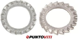 Rondelle di Sicurezza Dentate a Ventaglio Inox DIN 6798